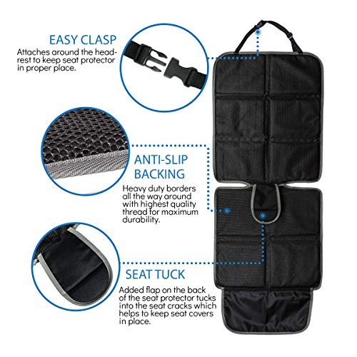 Thick Padding Auto Seat JOYSKY Car Seat Protector 2 Pack for Child Baby Carseat