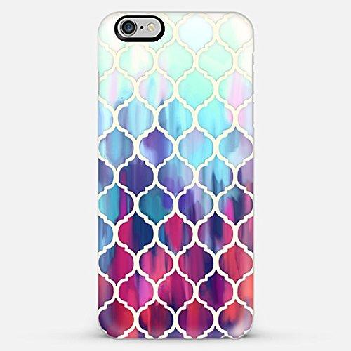 Casetify Moroccan Meltdown in pink, purple & aqua - iPhone 6 Plus Case (Frosty White)