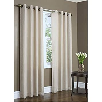 Curtains Ideas curtains 54 x 72 : Amazon.com: Thermalogic Eight Grommets Rhapsody Thermavoile Lined ...
