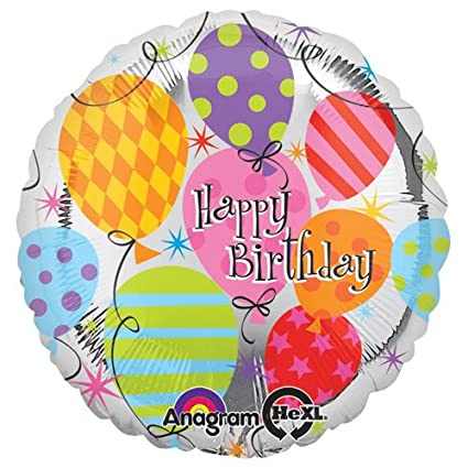 Anagram 17947 Birthday Foil Balloon 18 Multicolored