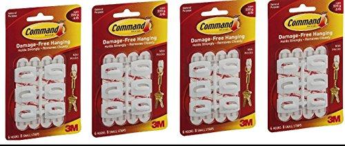 Command Mini-Hooks, White, 30-Hooks