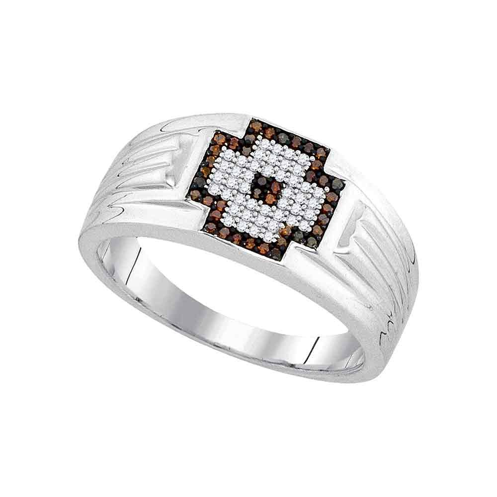 Sonia Jewels 14k Yellow Gold CZ Cubic Zirconia Mens Red Ring