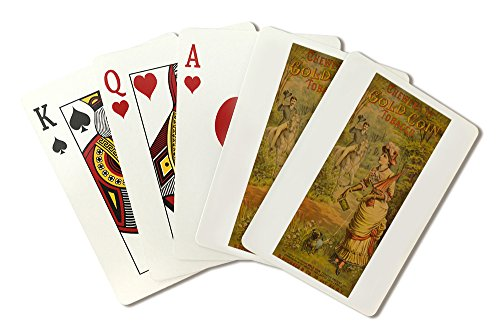 Gold Coin Tobacco Vintage Poster USA c. 1890 (Playing Card Deck - 52 Card Poker Size with Jokers)