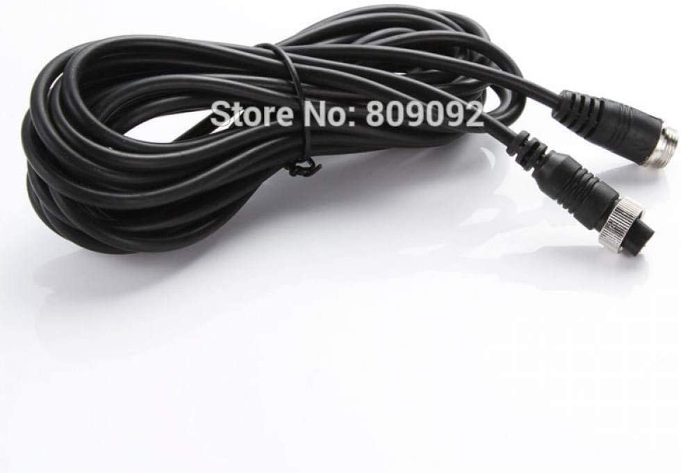 3M//5M//10M//15M//20M//30M//50M Car Bus Monitor Camera DVR Male to Female 4 Pin Video Power Extension Cable Cord Black 30M