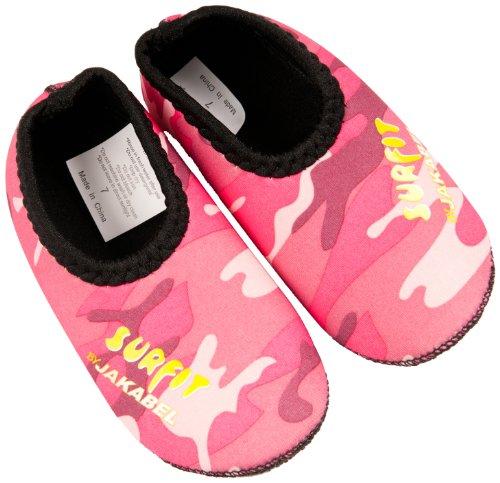 SURFIT Girl's Camou - Zapatos de natación para niña rosa