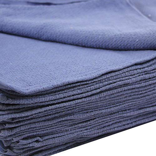 50 New Blue Glass Cleaning Shop Towels Blue Huck Surgical Detailing Glass Towels by GT
