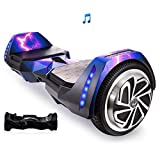 Mars One AlienBoard UL2272 Certified Hoverboard BatWings with Bluetooth and LED Lights (Purple Lightning)