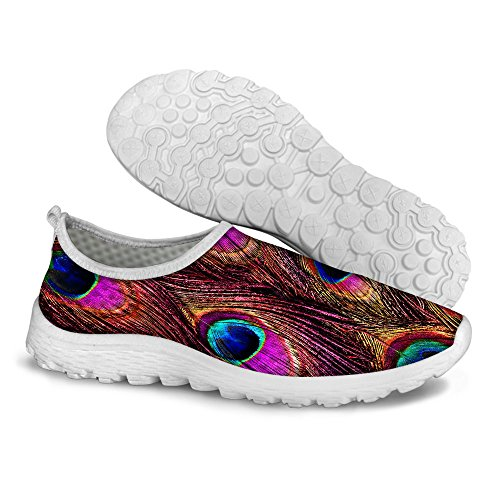 Mens on FOR Womens Shoes U Peacock DESIGNS Print Slip Fashion Feather Feather2 Walking Convenient Peacock qvq0F
