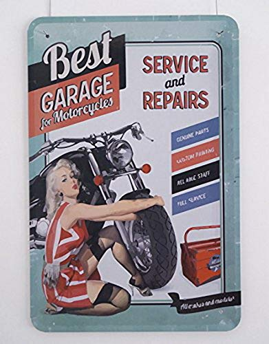 Ugtell Metal Signs Near Me Best Garage Service and Repairs Tin Plate Metal Signs Bar Pub House Wall Decor Table Top Accent Pieces]()