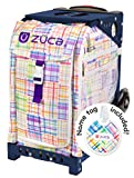 Zuca Patchwork Sport Insert Bag and Navy Blue Frame with Flashing Wheels
