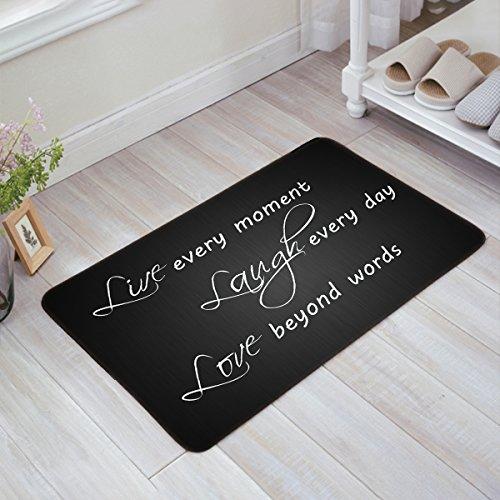Love Mat Door (Live Every Moment Laugh Every Day Love Beyond Words - Door Mats Kitchen Floor Bath Entrance Rug Mat Absorbent Indoor Bathroom Decor Doormats Rubber Non Slip 23.6