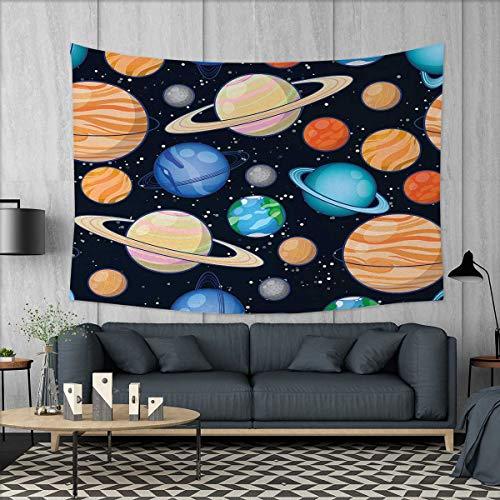Anniutwo Galaxy Home Decorations for Living Room Bedroom Cute Galaxy Space Art Solar System Planets Mars Mercury Uranus Jupiter Venus Kids Print Wall Tapestry W80 x L60 (inch) Multi by Anniutwo
