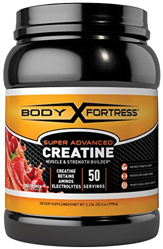 Body Fortress Super Advanced Creatine, Fruit Punch, 2.2 Pounds (Creatine Blueberry)