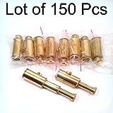 Shaheera Nautical Lot of 150 Pieces Brass Pocket Telescope Spyglass Key Chain 3inch
