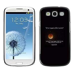 "For SAMSUNG Galaxy S3 III / i9300 / i747 ( I9300 ) Case , Moon Stars comediante Cita Louis"" - Diseño Patrón Teléfono Caso Cubierta Case Bumper Duro Protección Case Cover Funda"