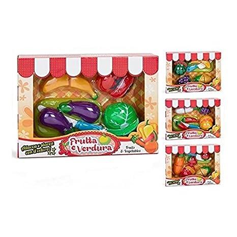 GLOBO Juguetes - Frutas y Verduras con Velcro,, 3.gl36753 ...