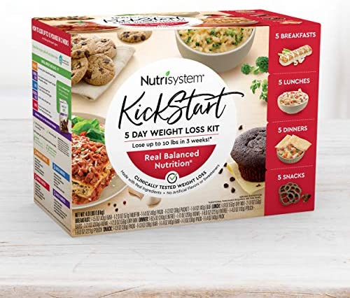 Nutrisystem® Kickstart Red Kit – Real Balanced Nutrition® – 5-Day Weight Loss Kit with Delicious Meals & Snacks