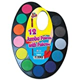 12 Jumbo Paints With Palette Water Paint Set & Brush Kids Painting Craft Set Art