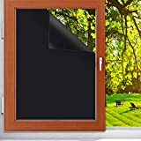 """Blackout Window Privacy Film, 17.8"""" x 78.7"""" Keep Privacy Film 100% Light Blocking Cling Dark Window Tinting Film for Privacy Office Meeting Room/Bathroom /Bedroom/Living Room"""