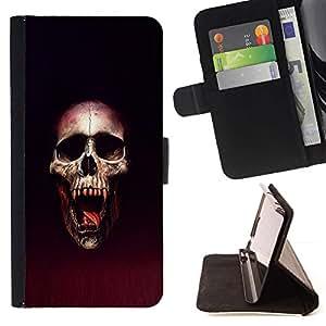 Momo Phone Case / Flip Funda de Cuero Case Cover - Cráneo Blood Vampire - Apple Iphone 5 / 5S
