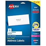"Avery Address Labels with Sure Feed for Laser Printers, 1"" x 4"", 500 Labels, Permanent Adhesive (5261)"