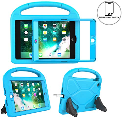 TIRIN Kids Case for iPad Mini 1 2 3 with Built-in Screen Protector, iPad Mini Case-Shockproof Lightweight Hard Cover Handle Stand Kids Case for iPad Mini 1st 2nd 3rd Generation Tablet - Blue (Up Ipad Stand Cases That 2)