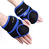 PROMIC Heavy-duty Neoprene Women Weighted Fitness Gloves for Aerobics, Walking, Sculpting, Running (1lb, 2lb, Blue), Sold By Pair