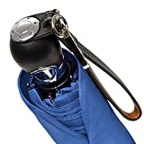 DAVEK TRAVELER UMBRELLA (Royal Blue) - Quality Windproof Travel Umbrella with Automatic Open & Close, Strong & Portable