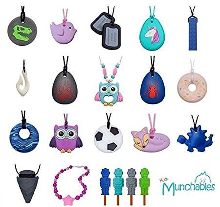 Munchables Chewelry Chew Blockz Sensory Necklace Pink