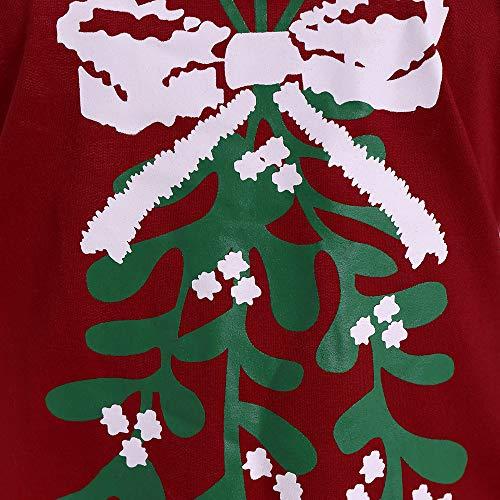 Da Manica Natale Elegante Con Festa Lunga Spalle A Lettera Stampa Donna Bcfuda Donna✿felpe Corto Vino Abito Di Scoperte Vestito fbgy76