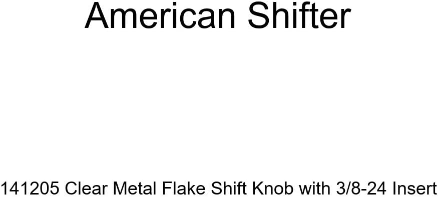 American Shifter 141205 Clear Metal Flake Shift Knob with 3//8-24 Insert