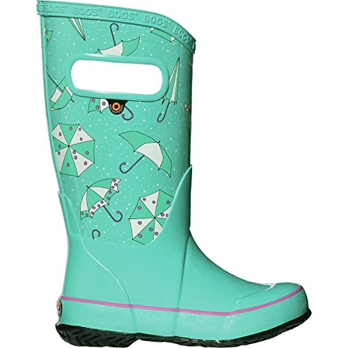 Bogs Kids Rubber Waterproof Rain Boot For Boys and Girls, Umbrellas Print/Turquoise/Multi, 13 M US Little Kid (Boots Bogs Waterproof)