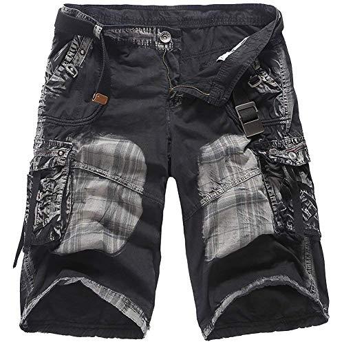 Au Noir Short coloré Pour Fuweiencore Noir poches Hommes Taille Longueur 34 Multi Court Genou Décontracté Cargo Pantalon 0dwqwxO1