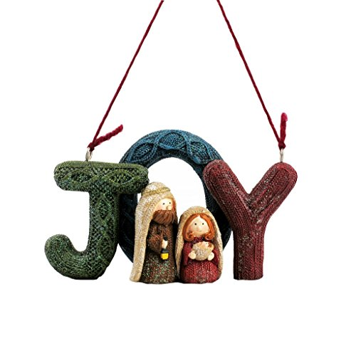 Lee's Home Nativity Knitting Finish ''Joy'' with Holy Family Ornament by Lee's Home