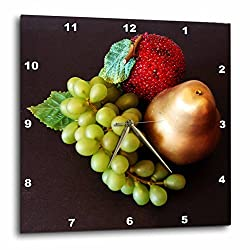 3dRose LLC Fruit Still Life 10 by 10-Inch Wall Clock