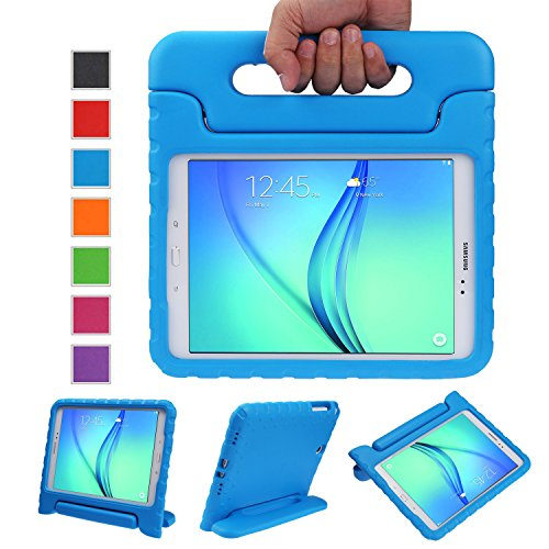 NEWSTYLE Samsung Galaxy Tab A 8.0 Shockproof Case Light Weight Kids Case Super Protection Cover Handle Stand Case for Kids Children for Samsung Galaxy Tab A 8.0-inch SM-T350 - Blue Color