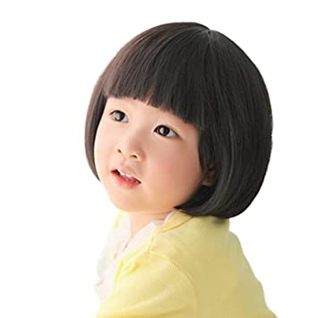 Amazon Com Rise World Wig Fashion Black Straight Wigs For Kids