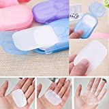 DESIGNEEZ Portable Hand Washing Box with Scented Slice Sheets Mini Soap