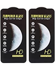 Dragon Anti-Fingerprint Screen Protector for iPhone 11 Pro Max, 6.5 Inches, Pack of 2 - Black