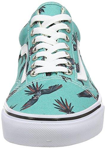 Scarpe Bird turquoise Unisex true Vans Skool Ginnastica dirty Adulto White Old Turchese Da Basse EawASTqvw