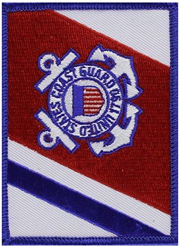 EagleEmblems PM3812 Patch-USCG,Flag,RWB (2.5x3.5'')
