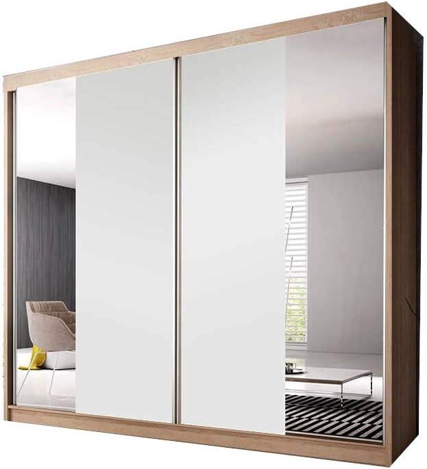 E-MEUBLES - Armario de Dormitorio con 2 Puertas correderas ...
