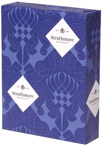 Strathmore Writing 25-Percent Cotton Stationery Paper Laid Finish 97-bright Ultimate White Shade Watermarked, 24-Pound 8.5x11 Inch 500 Sheets/Ream (Sold as 1 Ream) (300069) Mohawk Fine Papers