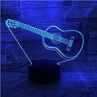 Guitarra De Moda Led Lámpara 3D Luz De Control Táctil Niños Regalo ...