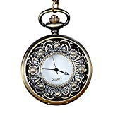 Clearance!!! Pengy Vintage Bronze Tone Spider Web Design Chain Pendant Men's Pocket Watch