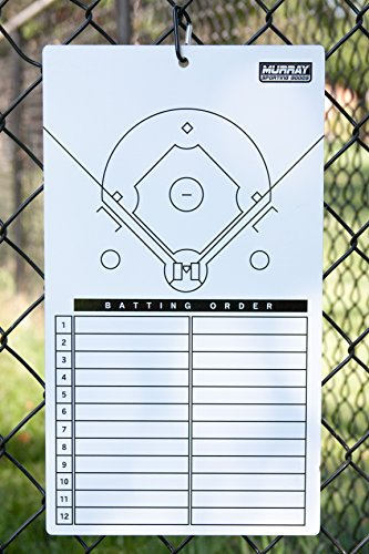 - Murray Sporting Goods Dry-Erase Baseball Lineup Marker Board