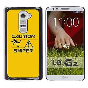 LECELL--Funda protectora / Cubierta / Piel For LG G2 -- Sniper Precaución --