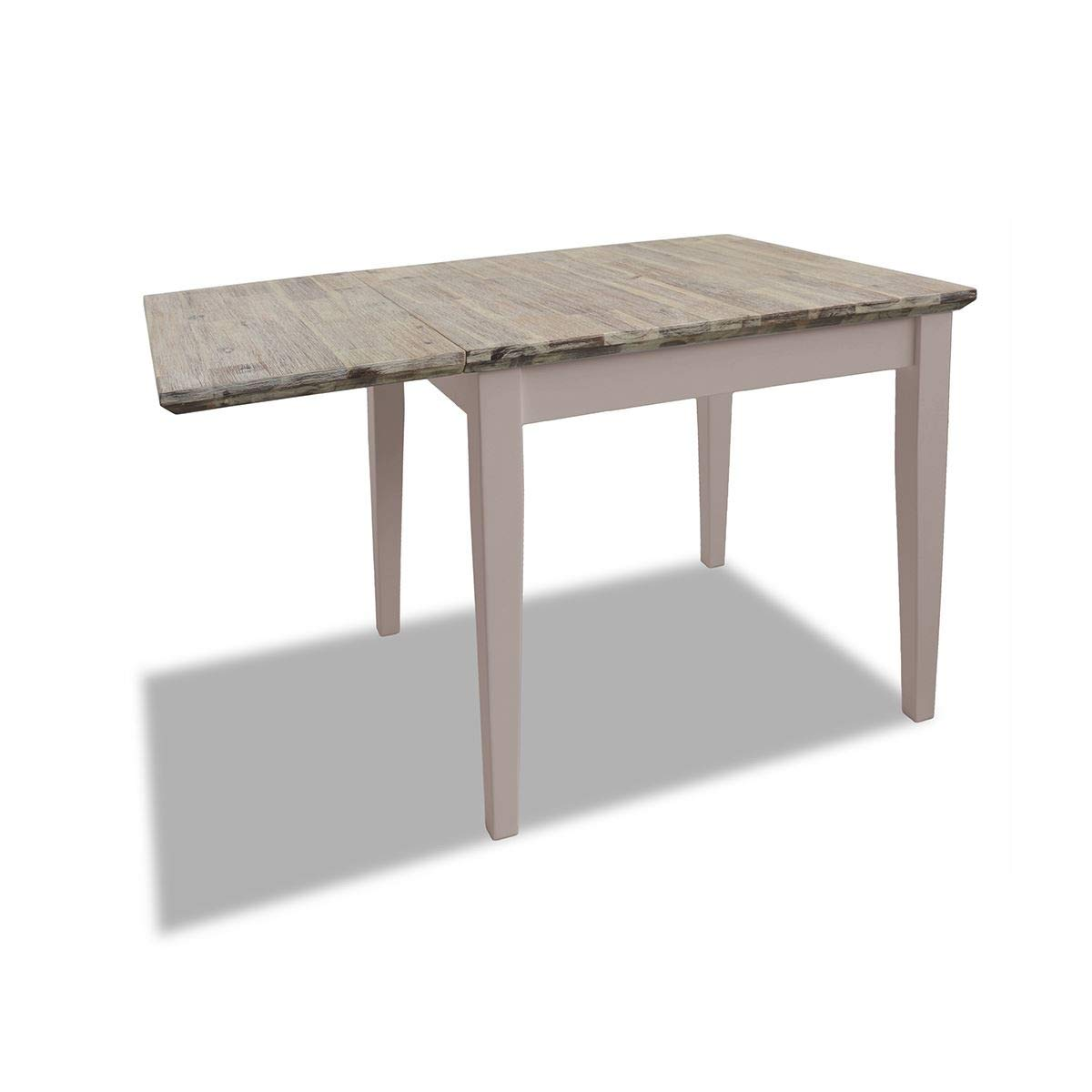 Florence duve grått köksbord och 2 träköksstolar uppsättning. Massivt trä köksbordsset Truffle Set 3
