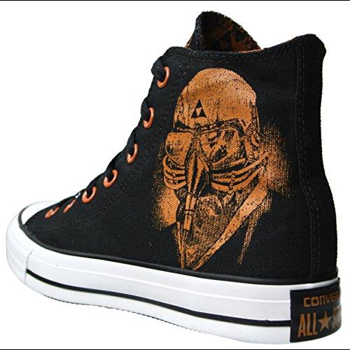 37 5 Converse negro mujer de para lona negro Zapatillas z0zq6U8