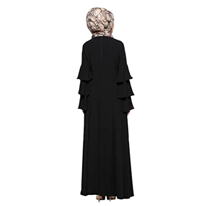 Haodasi Muslim Malaysia Women Long Sleeve Kaftan Islamic Middle East Arab Turkey Apparel Maxi Dress Abaya Dubai Wedding Cocktail Evening Gown Loose Robe: ...
